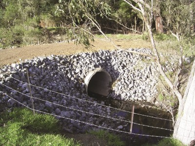Culvert over a creek