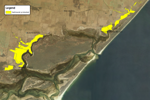 Map showing areas of proteced coastal saltmarsh