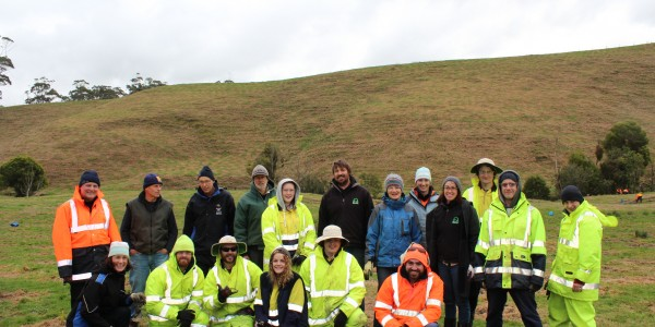 Powlett project volunteer tree planters