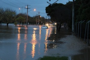 Shakespeare St, Traralgon in flood June 2012
