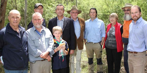 National Landcare grants group shot at Clive Disher Scout Camp