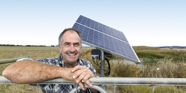 Damian Moore and solar panels