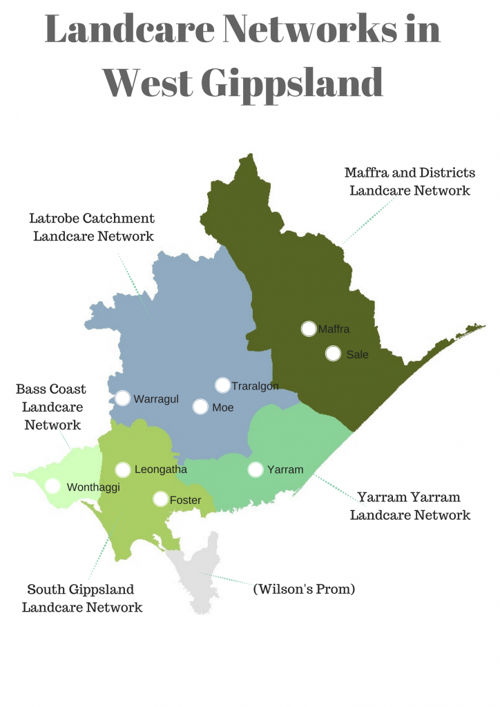 WGCMA Landcare Network map