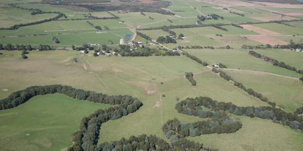 Aerial view of the Agnes River in the Corner Inlet area