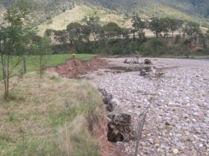 Macalister River flood damage June 2012