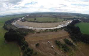 Flood recovery work on Nuntin levee