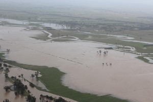 Aerial image of 2012 flood
