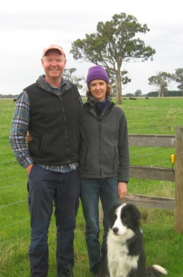 Simon Rothwell and Liz Carlsson with their dog on the property