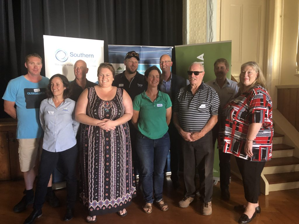 Representatives at the launch of the Lake Wellington Land and Water Management Plan