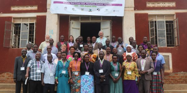 Belinda Brennan after working with Landcare facilitators in Uganda. (Belinda is fifth from left on middle row)