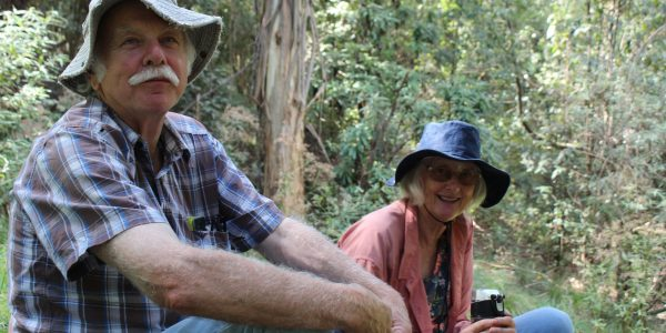 David Sutton and Alison Oates from Arawata Landcare Group